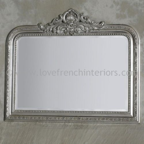 Silver Overmantel Mirror 2